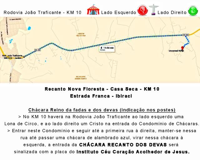 Mapa Recanto Devas